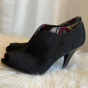 Christian Siriano Payless black suede boots 9.5